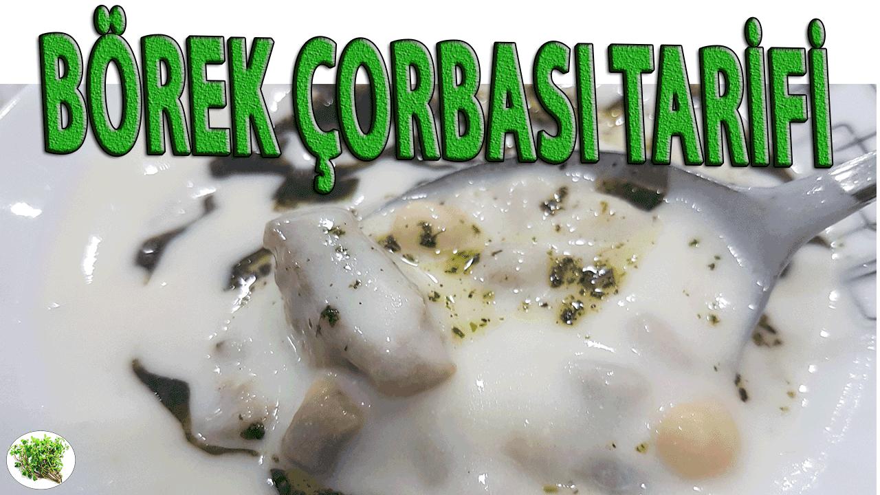 Börek çorbası el yapımı kıymalı kesme hamur ile hazırlanır. Börek çorbası denmesinin sebebi, mantıların haşlanmadan önce fırınlanmasıdır.